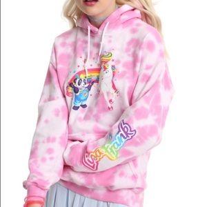 Lisa Frank tie dye hoodie